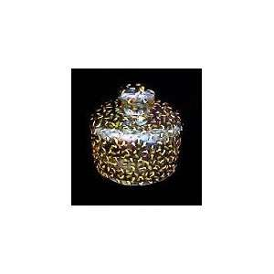 Gold Leopard Design   Cheese Dome, 6 inches by 5 inches