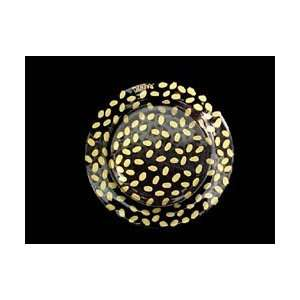 Gold Leopard Design   Hand Painted   Glass Dinner/Display