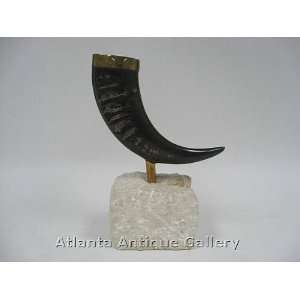 Maitland Smith Horn on Stone Stand:  Kitchen & Dining
