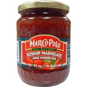 Marco Polo Rosehip Marmelade (Marmelada Sipak) All Natural 24 oz Jar