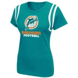 Miami Dolphins Womens Legacy Lovin The Game T Shirt: