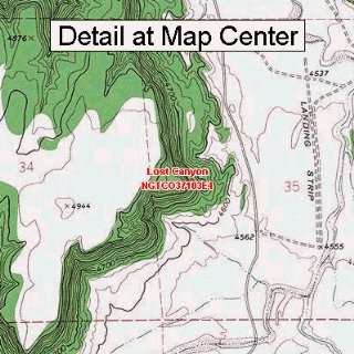 USGS Topographic Quadrangle Map   Lost Canyon, Colorado