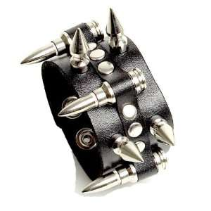 Wristband Black Metal Deathrock Goth Punk Bracelet: Everything Else