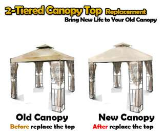 New 10x10 Replacement Canopy Top Garden Patio Gazebo