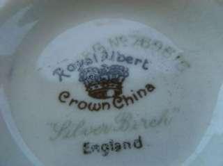 Royal Albert Silver Birch Crown China England Creamer