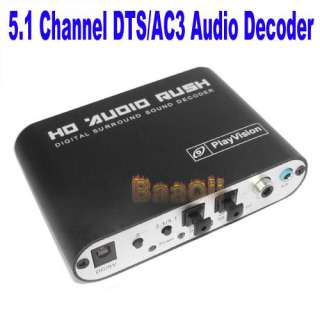 1Channel AC3/DTS Audio Gear Digital Surround Sound Rush Decoder