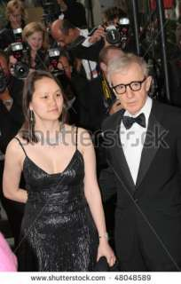 stock photo  CANNES, FRANCE   MAY 12 Woody Allen and Soon Yi Previn