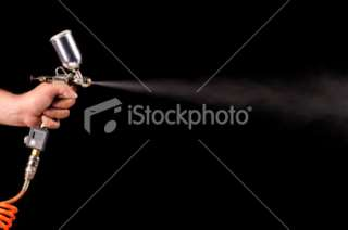 Spray Paint Gun Royalty Free Stock Photo