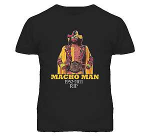 Macho Man Randy Savage Wrestling Tribute RIP T Shirt