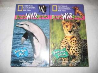 Animals Deep Sea Dive VHS 1994 Kids Video 45 Min (727994516521)