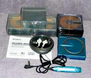 SONY MZ E60 Portable MD MiniDisc Player Walkman, EarBuds,Remote & 20