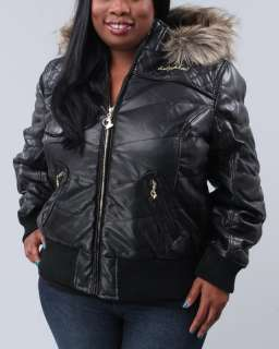plus black $ 139 00 $ 61 99 women baby phat outerwear heavy coats