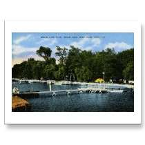 Indian Lake Club, Indian Lake, Niles, Michigan Postcard by
