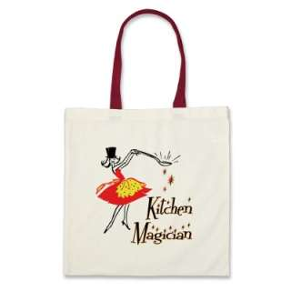 Kitchen Magician Retro Cooking Art Tote Bag from Zazzle