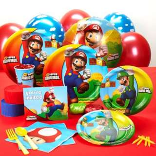 Super Mario Brothers Standard Party Kit for 16.Opens in a new window