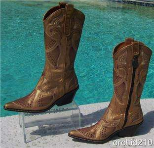 Donald Pliner~WESTERN COUTURE~GATOR BOOT Shoe $595 NIB