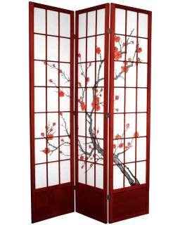 Oriental Furniture 7 ft. Cherry Blossom Shoji Screen   Rosewood 3