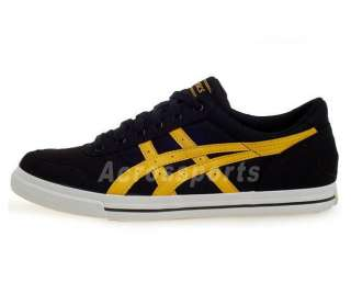 Asics Aaron CV Black Yellow Textile 2010 New Shoes