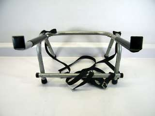 Basic 2 Bike Bicycle Car Trunk Rear Mount Rack Carrier   Pre owned