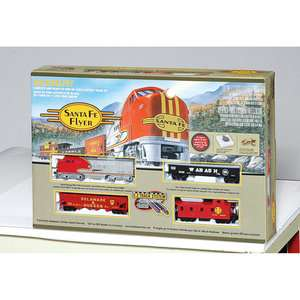 Train Santa Fe Flyer Train Set, Ready to Run Ho Train Set, Bachmann