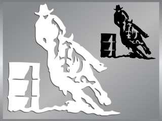 BARREL RACING cut vinyl decal sticker Cowboy