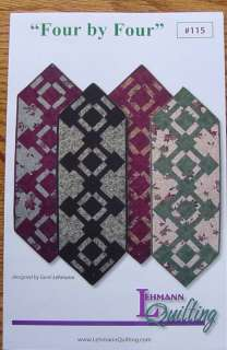 Pattern Four by Four Table Runner Lehmann Quilting sew