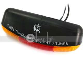 Bicycle Bike Turn Signal Brake 7 LED 8 Tune Horn Light