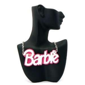 MINAJ BARBIE Pink Glittere Pendant W/Chain New Large WHITE Jewelry