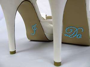 Crystal I DO Shoe Applique for Wedding Bridal Shoes Rhinestone Decals