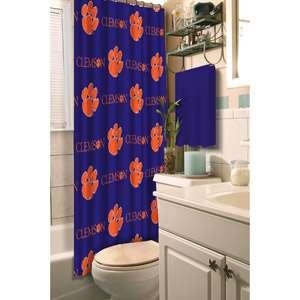 NCAA Clemson Tigers Shower Curtain