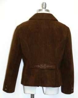 BROWN ~ German Women Western Equestrian Dirndl Dress Short Suit JACKET