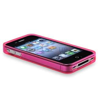 Pink Flower Skin CASE+PRIVACY FILTER+Car+Travel Charger for Apple