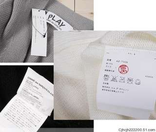 Comme des Garcons PLAY Sweater coat Gray size M