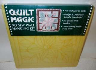 Quilt Magic No Sew Wall Hanging Kit 113 Wildflower Fun Easy To Make