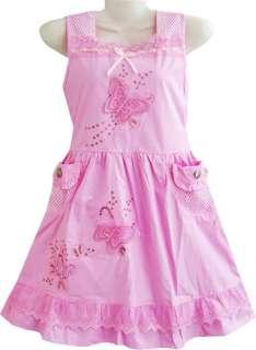 girls dress pink butterfly sundress children clothes size 7 8 size 7 8