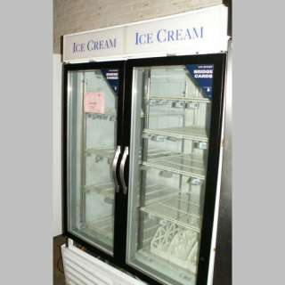 Beverage Aire CFG 48 5 Glass Two Door Ice Cream Freezer