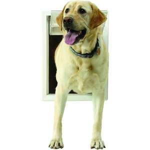 Ideal Ultraflex Pet Door White, Extra Large Dogs