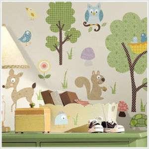 ANIMALS 89 BiG Wall Stickers Kids Decor Deer Tree Owl