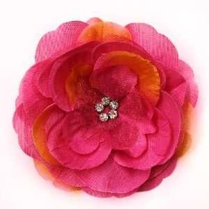 Rhinestone Fabric Flower Hat Hair Clip & Pin Brooch F10975 Beauty