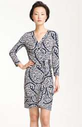 BCBGMAXAZRIA Almond Blossom Print Jersey Wrap Dress $178.00