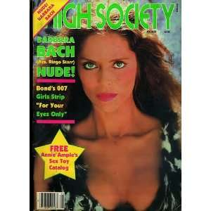 HIGH SOCIETY MAGAZINE BARBARA BACH AUGUST 1981: Gloria