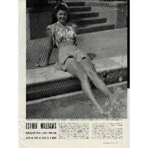 ESTHER WILLIAMS  Hollywood finds starlet who can swim as well as pose