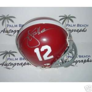 Ken Stabler signed Alabama Crimson Tide Mini Helmet