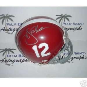Ken Stabler signed Alabama Crimson Tide Mini Helmet