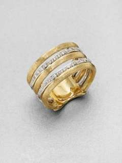Marco Bicego   Diamond Accented 18K Gold Banded Ring