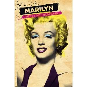 Marilyn Monroe Paint Blonde Bombshell PAPER POSTER measures 36 x 24