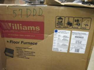NATURAL GAS 4505622 GRAVITY 45K BTU VENTED FLOOR FURNACE HEATER $1039