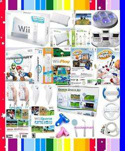 NINTENDO WII CONSOLE FIT PLUS MARIO KART GAMES 4CHARGER 045496880019