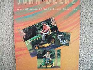 John Deere Lawn & Garden Equipment sales Brochure
