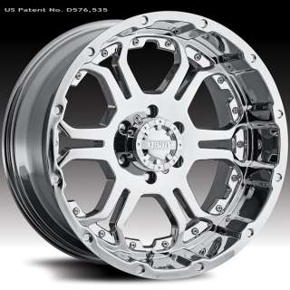 Gear Alloy 715 Recoil Chrome 18x9 Chevy Dodge Ford GMC